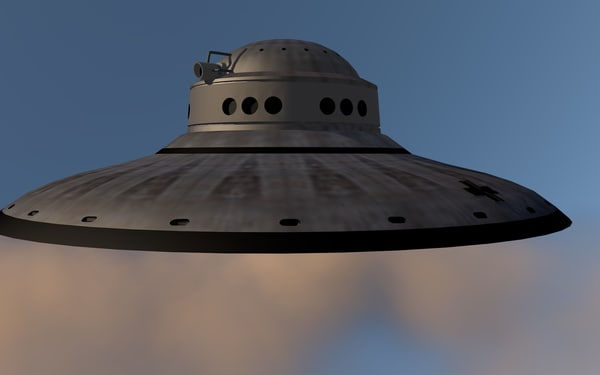 3d ufo nazi model