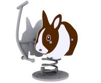 3d model rabbit spring