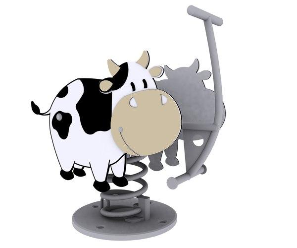 3d model cow spring