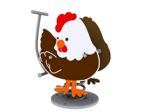 rooster spring 3d model
