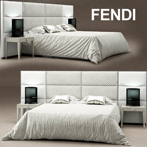 3ds max bed regent fendi