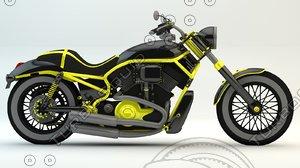 speedmaster motorcycle cruiser 3d 3ds