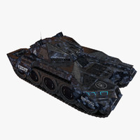 scifi tank c4d
