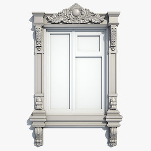 window frame 3d obj