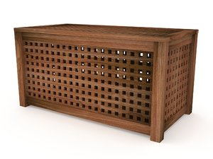 solid wood ikea coffee table 3d 3ds
