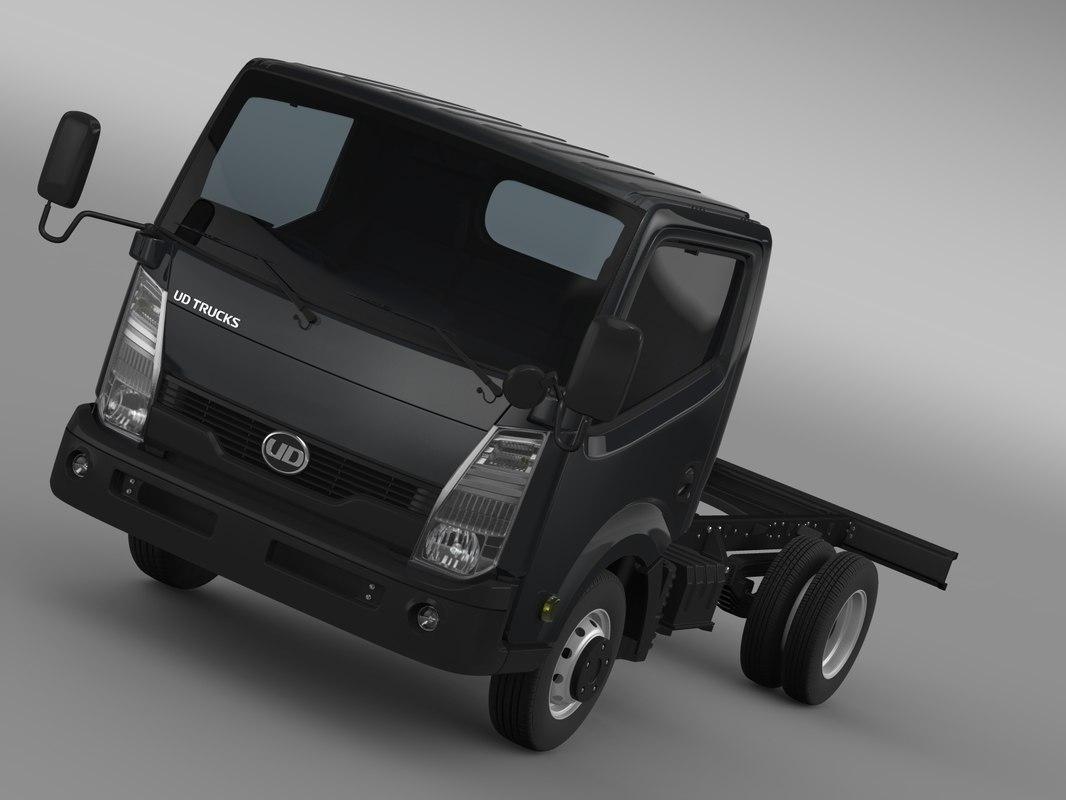 ud condor light chassi 3d model