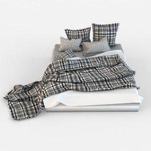 bed linen 3d max