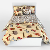 children bed linen 3d model