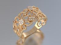 daisy ring 3d obj