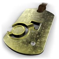 mars symbol pendant 3d model