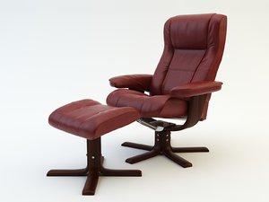 3d chair armchair arm model