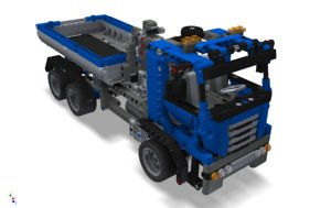 toy lego truck 3d model