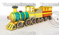 cartoon train obj