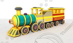 cartoon train obj