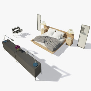 3d model photorealistic bed
