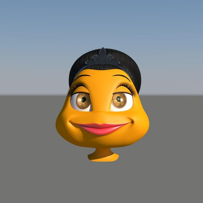 character head female 3d model