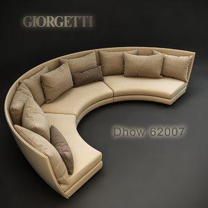 giorgetti dhow 62007 3d max