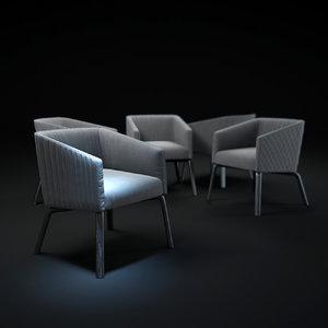 3d model lolita-armchair