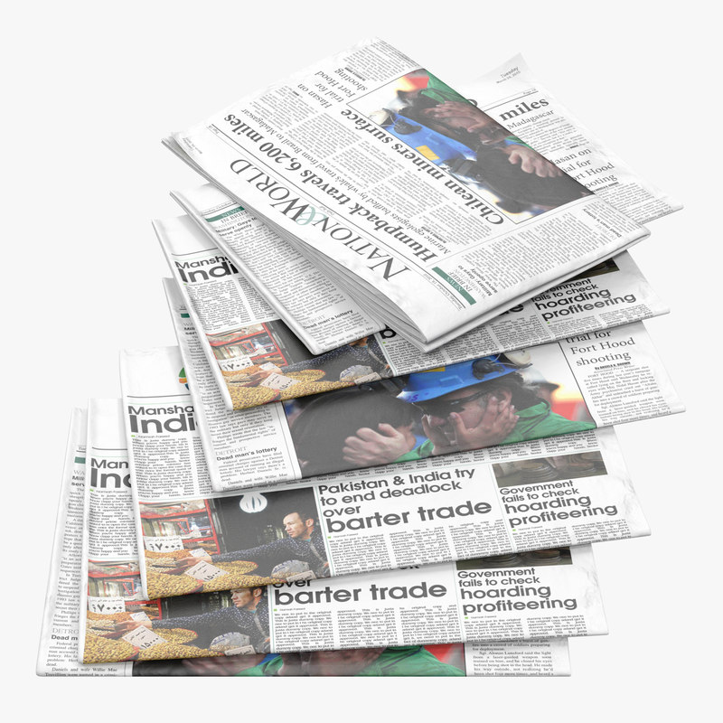 3d newspapers realistic model