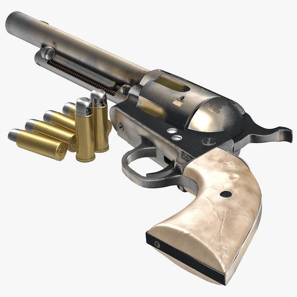 revolver modeled realistic obj