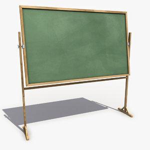 chalkboard 2 3d model