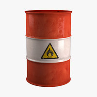 3d model flammable barrel