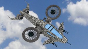 3d model scifi helicopter