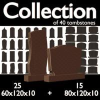 3d model tombstones stone