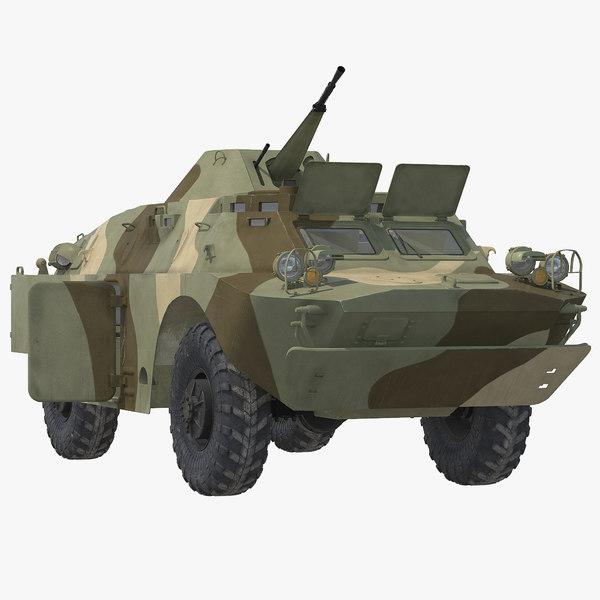 3d model brdm 2 amphibious vehicle