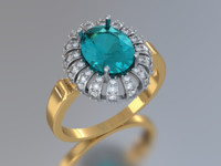 oval ring obj