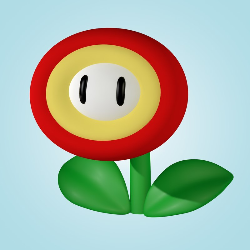 c4d super mario flower
