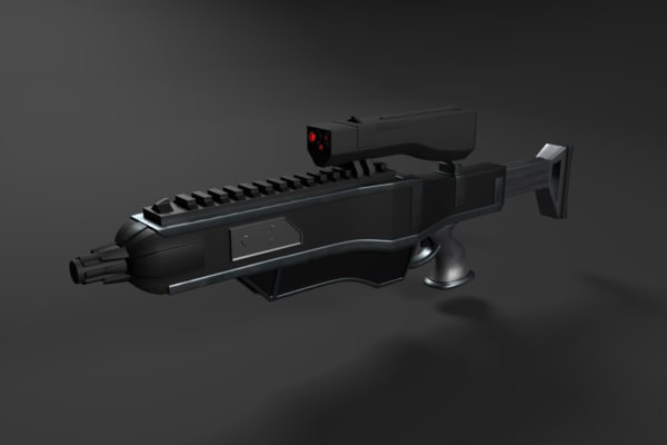 3d 3ds sci-fi rifle