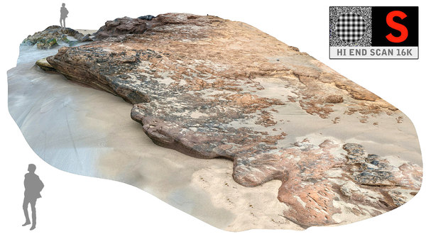 3d model rocky beach ultra hd