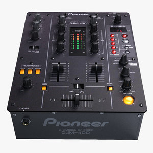 3d dj mixer djm-400 model