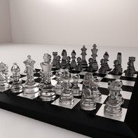3d chessboard board chess model