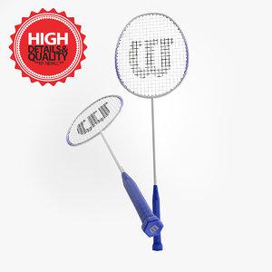 3d model 2 badminton