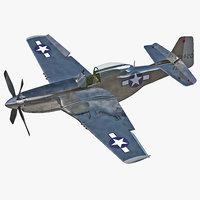 Aircraft North American P-51 Rigged
