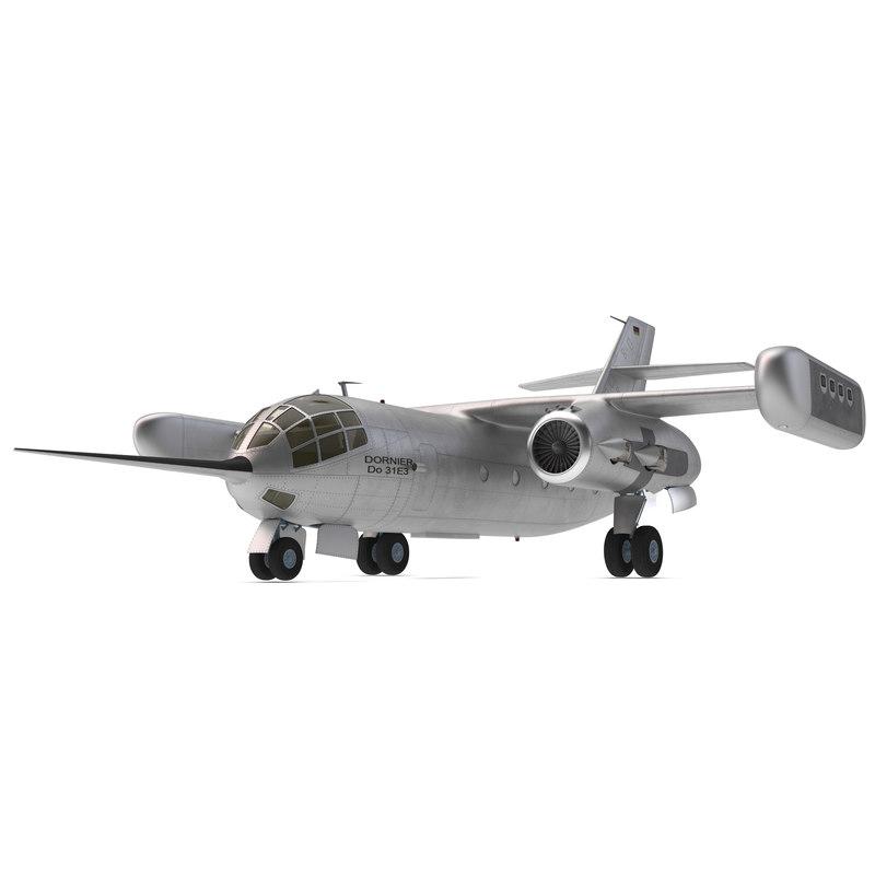 3d model jet transport dornier 31