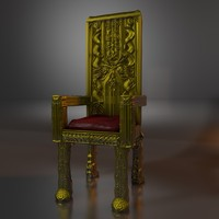 free c4d mode gold throne
