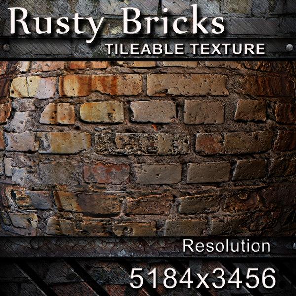 Rusty Brick Wall Texture
