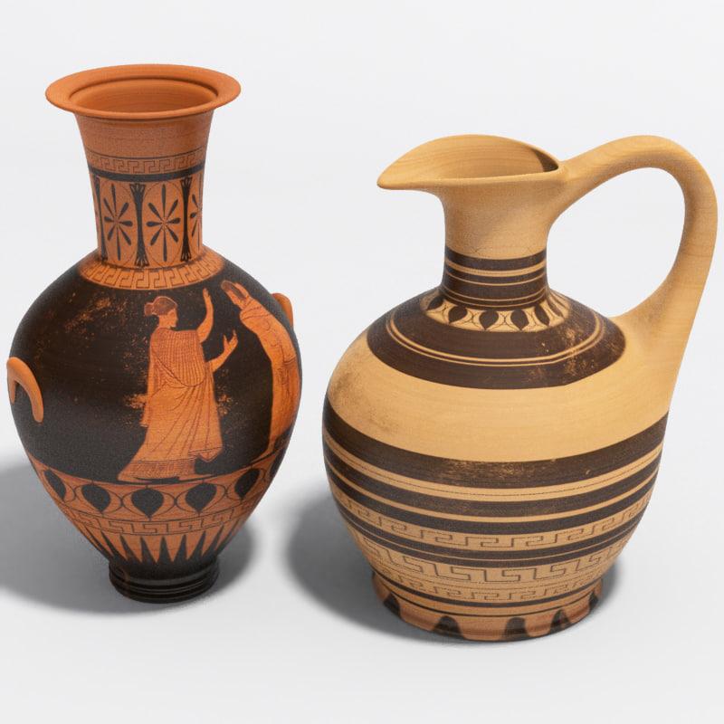Ancient Vases Greek 3d Model