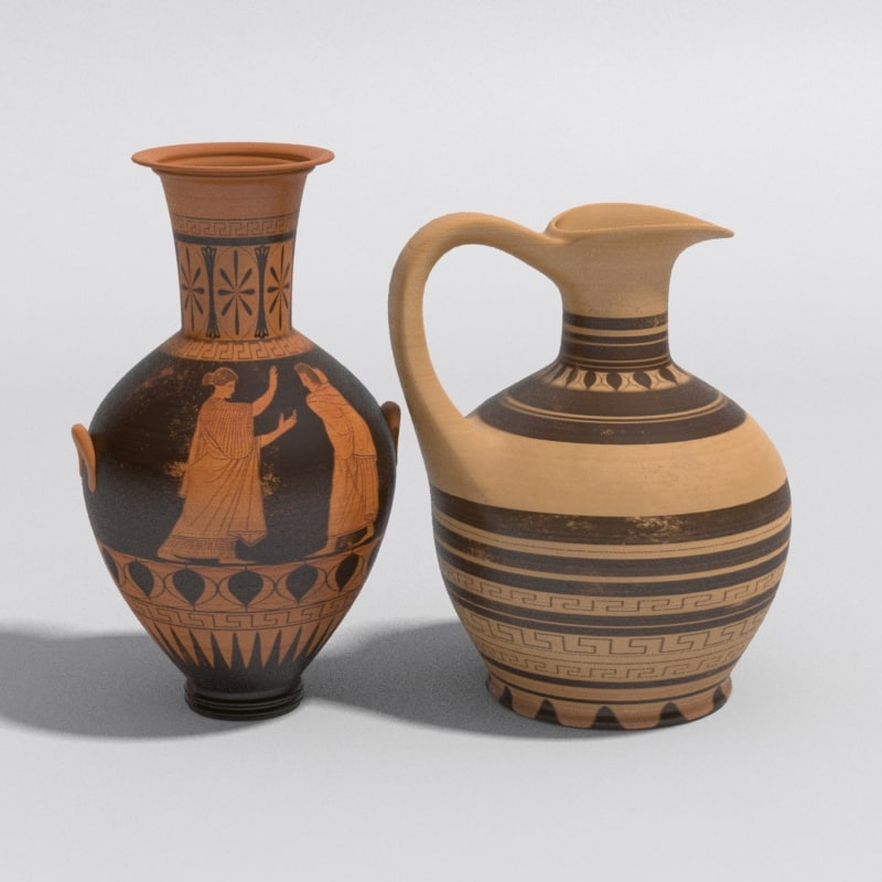 ancient vases greek 3d model