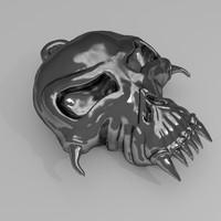 skull amulet 3d c4d