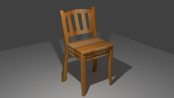 free 3ds mode wood chair