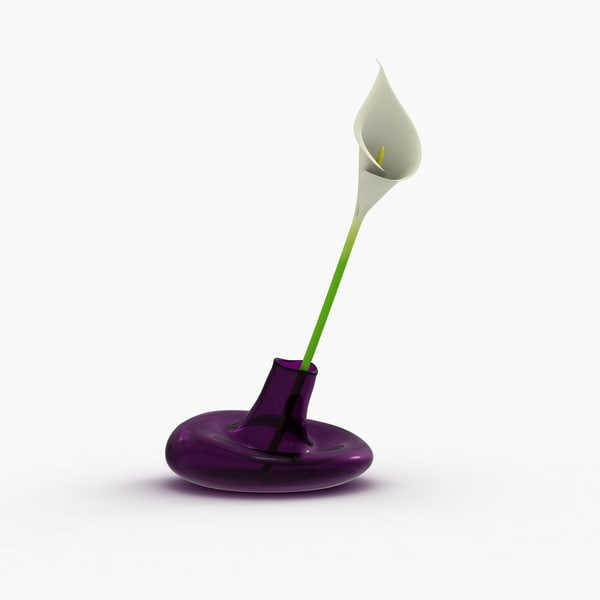 3d model modern vase flower