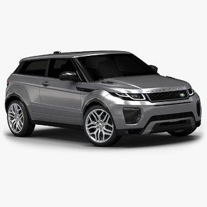 3d 2016 range rover evoque