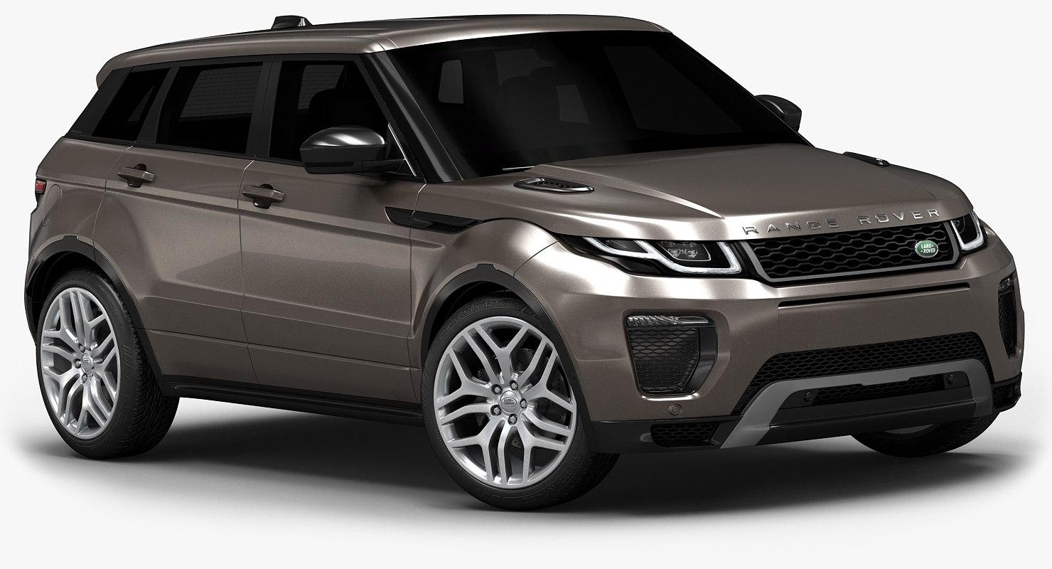 2016 range rover evoque 3d model