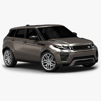 2016 range rover evoque 3d model
