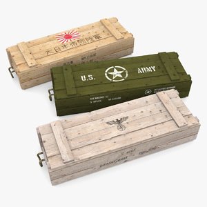 3ds max military crates wwii army