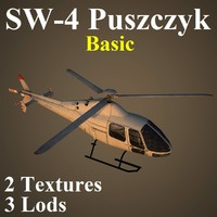 pzl basic helicopter 3d max
